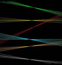 Black background with lazer lines vector