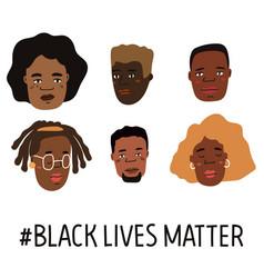 Black lives matter hand drawn poster card vector