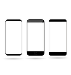 Blank mobile phones mockup vector