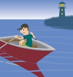boat ride vector image