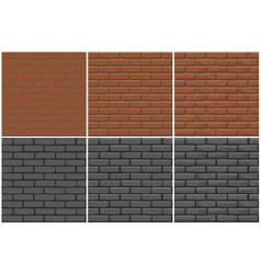 Brick wall texture seamless 3 step drawing vector