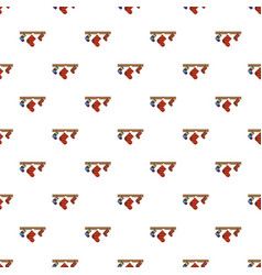 christmas gift socks pattern seamless vector image