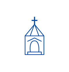 church wedding line icon concept church wedding vector image