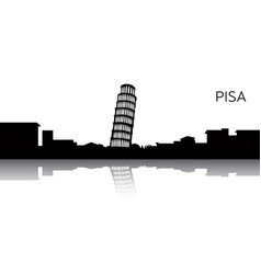 Cityscape of pisa vector