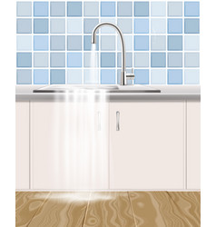 Clogged waste pipe plumbing accident vector