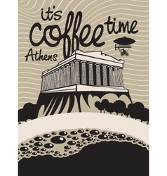 Coffee athens vector