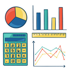 collection math and science elements vector image