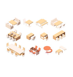 collection various furniture for various vector image