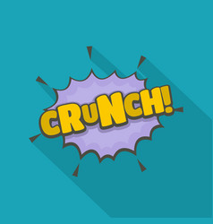 Comic boom crunch icon flat style vector