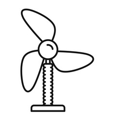 cooling fan icon outline style vector image