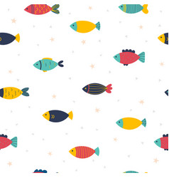 Cute childish seamless pattern in cartoon style vector