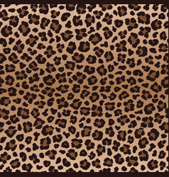 dark brown irregular leopard seamless pattern vector image