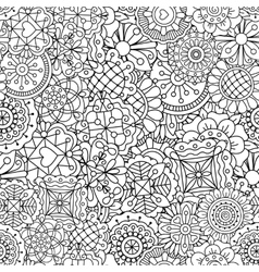 Decorative background of full frame designs vector