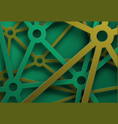 design of a background with cascading green and vector image