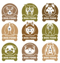 Dog food labels set vector