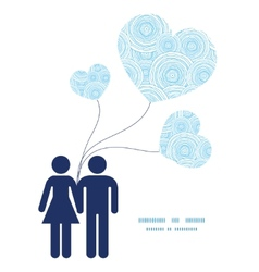 Doodle circle water texture couple in love vector