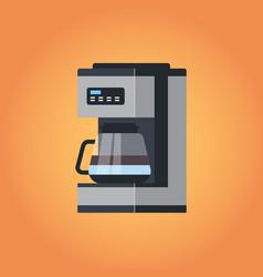 electric automatic espresso coffee machine icon vector image
