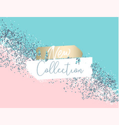 elegant luxury blue mint pink blush and silver vector image