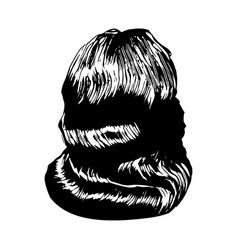 elegant vintage retro woman wave hairstyl vector image