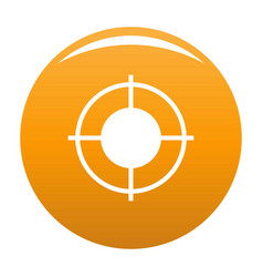 Far target icon orange vector