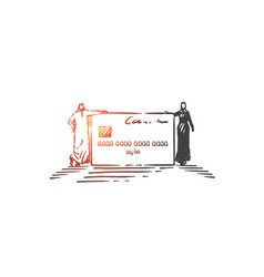 financial account opening concept sketch hand vector image