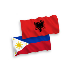 Flags albania and philippines on a white vector