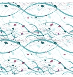 Floral seamless pattern Abstract waves with vector image