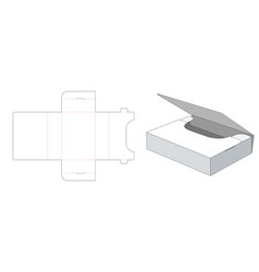 folded storage box die cut template vector image