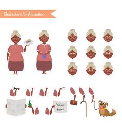 funny grandmother housewife cartoon vector image vector image