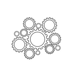 Gears mechanism icon support vector