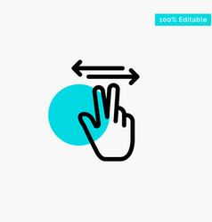gestures hand mobile touch turquoise highlight vector image