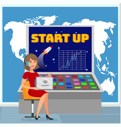 Global business expansion plan vector