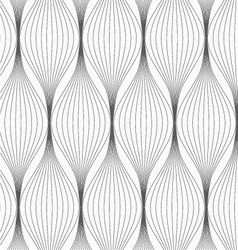 Gray striped connected ovals vector