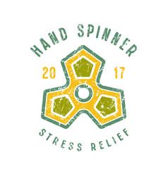 Hand spinner emblem vector