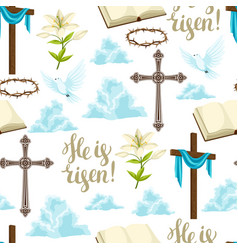 Happy easter seamless pattern decorative vector