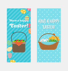 happy easter vertical flyers template vector image