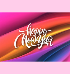 happy new year 2020 lettering greeting vector image