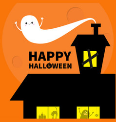 Haunted house roof attic loft light on boarded-up vector