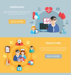 healthcare horizontal banners vector image