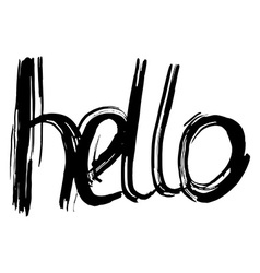 Hello hand lettering Handmade calligraphy vector image