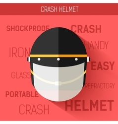 Helmet for self protect icon vector