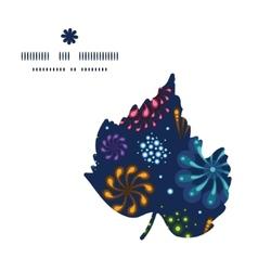holiday fireworks leaf silhouette pattern frame vector image