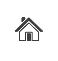 home icon isolated on white background vector image