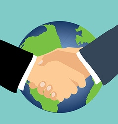 International partnership symbol vector image