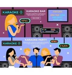 Karaoke Banner Set vector image