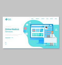 landing page medical website online medical vector image