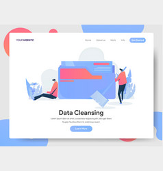 landing page template data cleansing concept vector image
