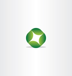 logo green leaf circle eco symbol vector image