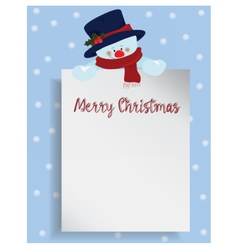 Merry Christmas letter vector image