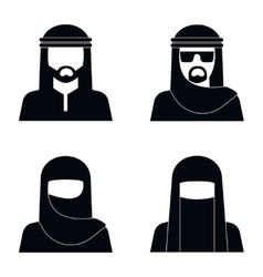Middle Eastern people avatar vector